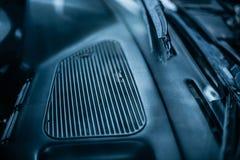 Большой дефлектор жары и условия автомобиля стоковые изображения
