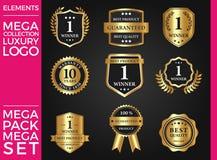Большой дизайн комплекта роскоши, королевских и элегантных логотипа шаблона вектора Стоковое Фото