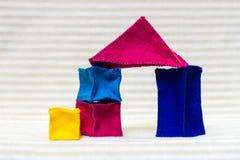 Большой дом кирпича игрушки Стоковая Фотография