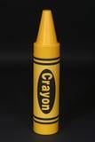 большой желтый цвет crayon стоковое изображение rf