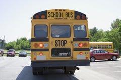 Большой желтый школьный автобус Стоковое фото RF