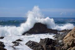 Большой залив Sur, вид на океан, Калифорния, США Стоковое Изображение RF