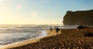 Большой заход солнца Австралии дороги океана стоковое фото rf