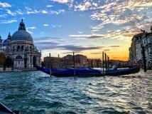 Большой заход солнца Венеции стоковая фотография rf