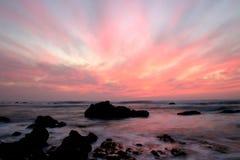 большой заход солнца Стоковые Изображения