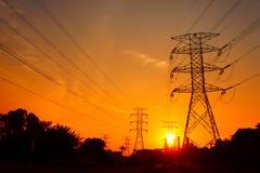 большой заход солнца Стоковая Фотография