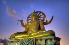 большой заход солнца samui острова Будды Стоковое Фото