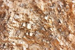 Большой, камень коричневого цвета естественный, стена гранита, предпосылка Стоковые Изображения