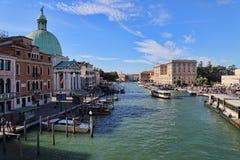 Большой канал в Венеции, Италии стоковое фото