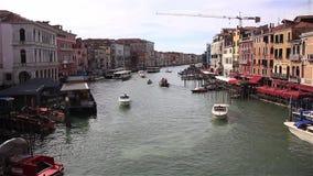 Большой канал, в Венеции Италии видеоматериал