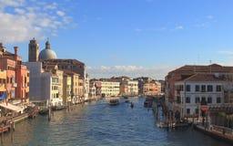 Большой канал от degli Scalzi Ponte моста Scalzi стоковое фото rf