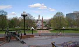 Большой карамболь перед зданием капитолия Денвер, Соединенные Штаты стоковое изображение