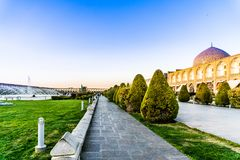Большой квадрат Naqsh-e Jahan в Isfahan - Иране Стоковое Изображение RF