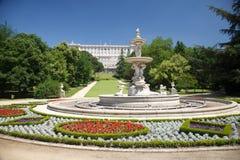 Большой классицистический фонтан Стоковое Фото
