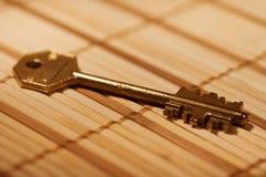 большой ключ золота Стоковые Фото