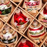 Большой комплект роскошных безделушек стекла Winterberry Ретро введенное в моду изображение Стоковые Фото