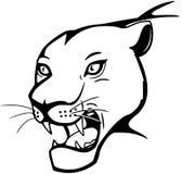 большой кот ревя Иллюстрация вектора