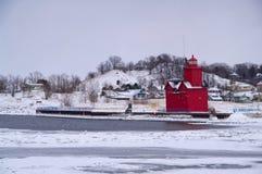 большой красный цвет маяка Голландии Стоковая Фотография RF