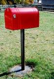 большой красный цвет почтового ящика Стоковое Изображение