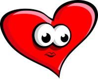 большой красный цвет сердца Стоковое Фото