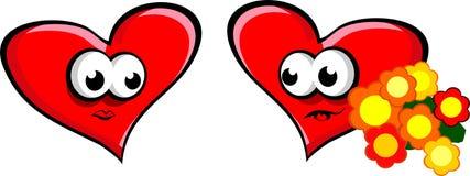 большой красный цвет сердца Стоковые Фотографии RF