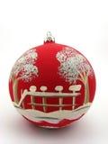большой красный цвет шарика Стоковая Фотография