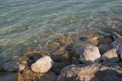 Большой кристалл соли мертвого моря Стоковые Изображения