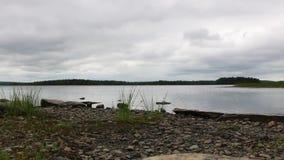 Большой ландшафт озера - национальный парк Kejimkujik - Новая Шотландия, Канада акции видеоматериалы