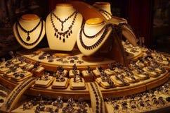 Большой магазин ювелирных изделий дисплея Стоковое Изображение RF