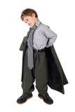 большой мальчик ботинок одевая костюм человека s куртки стоковая фотография