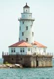 Большой маяк на озере Мичиган стоковое фото