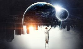 Большой большой мир Мультимедиа стоковое фото