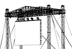 большой напольный экран Стоковое Фото