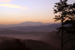 большой национальный парк гор закоптелый Стоковое Изображение RF