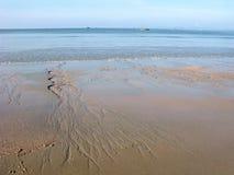 Большой отлив на море, тропический климат Стоковая Фотография