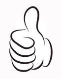 Большой палец руки вверх по вектору Стоковое Изображение RF
