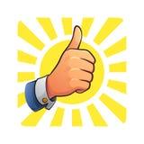 Большой палец руки вверх успеха Стоковые Изображения RF