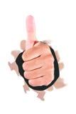 Большой палец руки вверх Стоковое фото RF