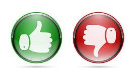 Большой палец руки поднимающий вверх и большой палец руки вниз застегивают также вектор иллюстрации притяжки corel бесплатная иллюстрация