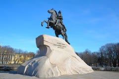 большой памятник peter к Стоковая Фотография