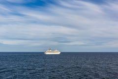 Большой паром в море Стоковое Изображение RF