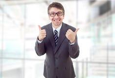 большой пец руки бизнесмена вверх стоковая фотография rf