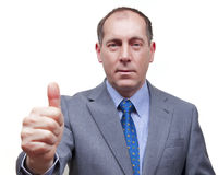 большой пец руки бизнесмена вверх Стоковые Фото
