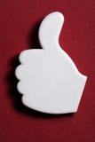 Большой пец руки вверх по одобренному знаку Стоковое Изображение RF
