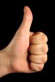 большой пец руки вверх Стоковые Фото