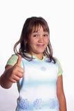 большой пец руки девушки счастливый вверх Стоковое Фото