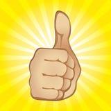 большой пец руки жеста вверх Стоковые Фото