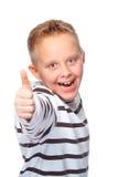 большой пец руки мальчика вверх Стоковое Изображение RF