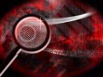 большой пец руки печати злодеяния Стоковое Фото