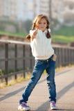 большой пец руки ребенка Стоковая Фотография
